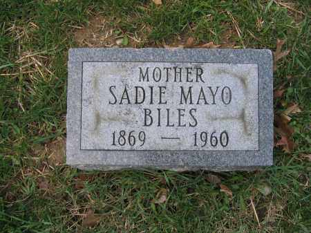 BILES, SADIE MAYO - Union County, Ohio   SADIE MAYO BILES - Ohio Gravestone Photos