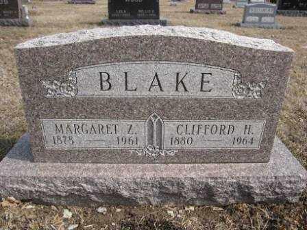 BLAKE, MARGARET Z. - Union County, Ohio | MARGARET Z. BLAKE - Ohio Gravestone Photos