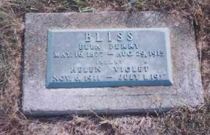 BLISS, HELEN VIOLET - Union County, Ohio | HELEN VIOLET BLISS - Ohio Gravestone Photos