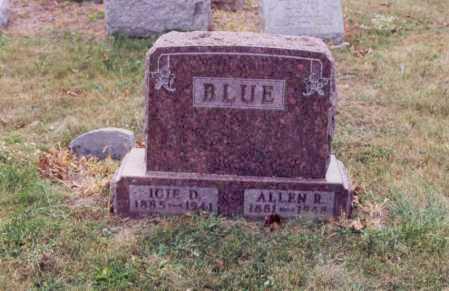BLUE, ALLEN R - Union County, Ohio | ALLEN R BLUE - Ohio Gravestone Photos