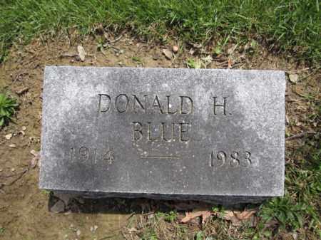 BLUE, DONALD H. - Union County, Ohio | DONALD H. BLUE - Ohio Gravestone Photos