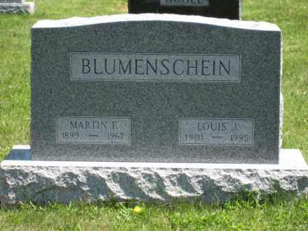 BLUMENSCHEIN, LOUIS J. - Union County, Ohio | LOUIS J. BLUMENSCHEIN - Ohio Gravestone Photos