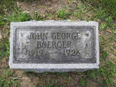 BOERGER, JOHN GEORGE - Union County, Ohio | JOHN GEORGE BOERGER - Ohio Gravestone Photos