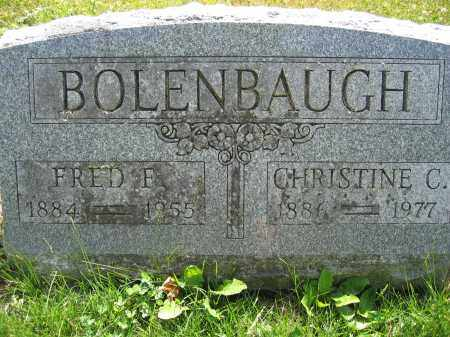 BOLENBAUGH, CHRISTINE C. - Union County, Ohio | CHRISTINE C. BOLENBAUGH - Ohio Gravestone Photos