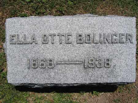 BOLINGER, ELLA OTTE - Union County, Ohio | ELLA OTTE BOLINGER - Ohio Gravestone Photos