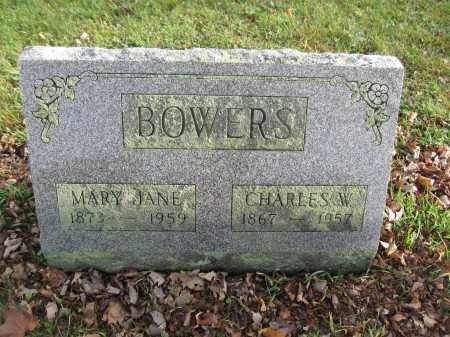 BOWERS, MARY JANE ALLINDER - Union County, Ohio | MARY JANE ALLINDER BOWERS - Ohio Gravestone Photos