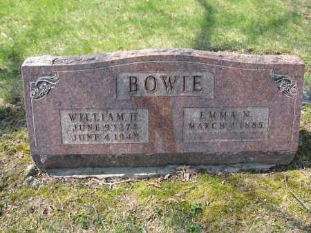 BOWIE, EMMA N. - Union County, Ohio | EMMA N. BOWIE - Ohio Gravestone Photos