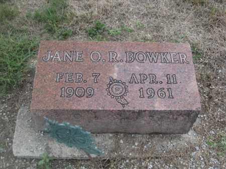 BOWKER, JANE O.R. - Union County, Ohio | JANE O.R. BOWKER - Ohio Gravestone Photos