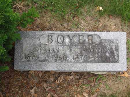BOYER, MATTIE - Union County, Ohio | MATTIE BOYER - Ohio Gravestone Photos
