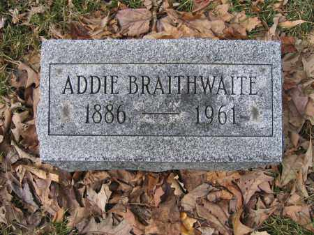 BRAITHWAITE, ADDIE - Union County, Ohio | ADDIE BRAITHWAITE - Ohio Gravestone Photos