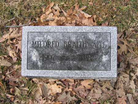 BRAITHWAITE, MILDRED - Union County, Ohio | MILDRED BRAITHWAITE - Ohio Gravestone Photos