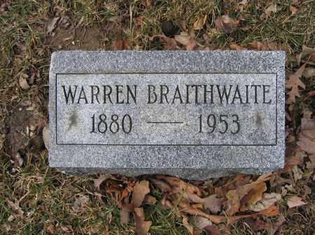 BRAITHWAITE, WARREN - Union County, Ohio | WARREN BRAITHWAITE - Ohio Gravestone Photos