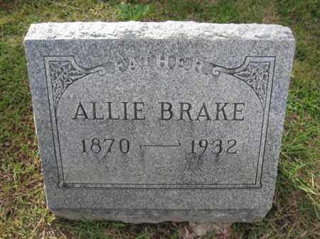 BRAKE, ALLIE - Union County, Ohio | ALLIE BRAKE - Ohio Gravestone Photos
