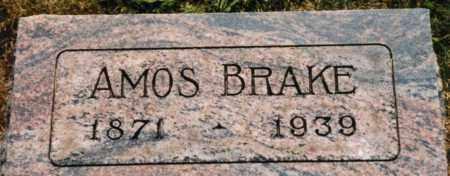 BRAKE, AMOS - Union County, Ohio | AMOS BRAKE - Ohio Gravestone Photos