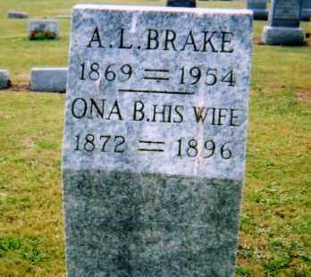BRAKE, ONA BELLE - Union County, Ohio | ONA BELLE BRAKE - Ohio Gravestone Photos