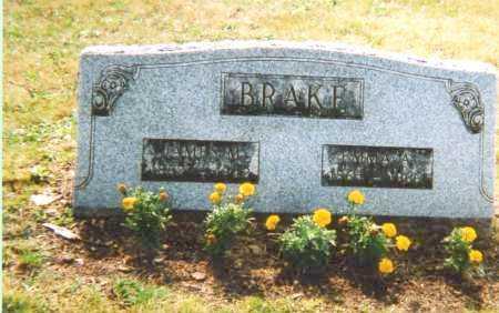 O'HARRA BRAKE, EMMA ANN - Union County, Ohio | EMMA ANN O'HARRA BRAKE - Ohio Gravestone Photos