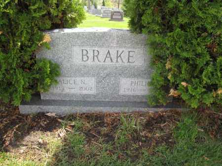 BRAKE, PHILIP - Union County, Ohio | PHILIP BRAKE - Ohio Gravestone Photos