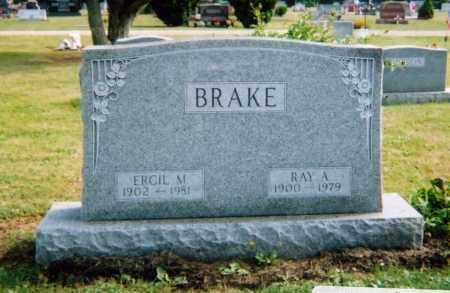 BRAKE, ERCIL M. MILLER - Union County, Ohio | ERCIL M. MILLER BRAKE - Ohio Gravestone Photos