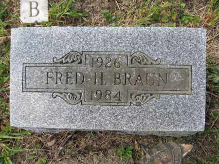 BRAUN, FRED H. - Union County, Ohio | FRED H. BRAUN - Ohio Gravestone Photos