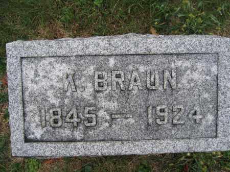 BRAUN, K. - Union County, Ohio   K. BRAUN - Ohio Gravestone Photos