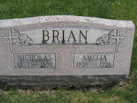 BRIAN, AMELIA - Union County, Ohio | AMELIA BRIAN - Ohio Gravestone Photos