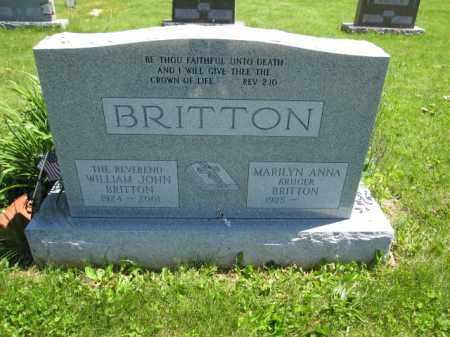 BRITTON, MARILYN ANNA KRUGER - Union County, Ohio | MARILYN ANNA KRUGER BRITTON - Ohio Gravestone Photos