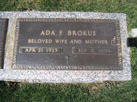 BROKUS, ADA F - Union County, Ohio | ADA F BROKUS - Ohio Gravestone Photos