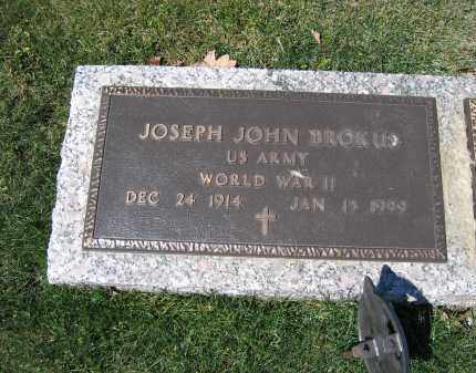 BROKUS, JOSEPH JOHN - Union County, Ohio | JOSEPH JOHN BROKUS - Ohio Gravestone Photos