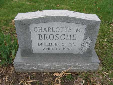 BROSCHE, CHARLOTTE M. - Union County, Ohio   CHARLOTTE M. BROSCHE - Ohio Gravestone Photos