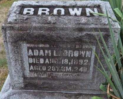 BROWN, ADAM L. - Union County, Ohio | ADAM L. BROWN - Ohio Gravestone Photos