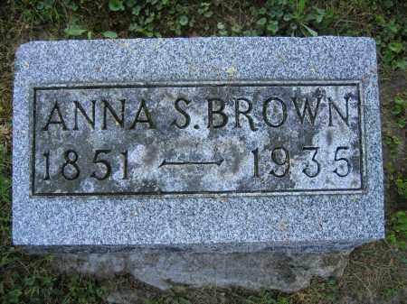BROWN, ANNA S. - Union County, Ohio | ANNA S. BROWN - Ohio Gravestone Photos