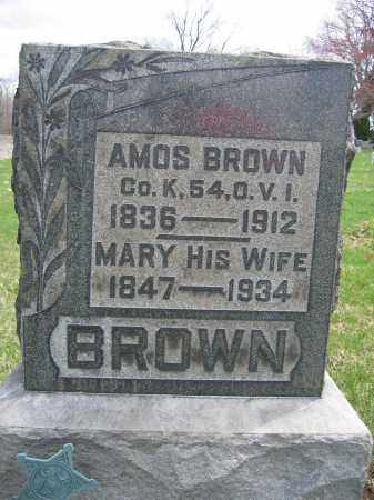 BROWN, AMOS - Union County, Ohio | AMOS BROWN - Ohio Gravestone Photos