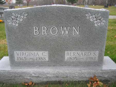 BROWN, VIRGINIA C. - Union County, Ohio | VIRGINIA C. BROWN - Ohio Gravestone Photos