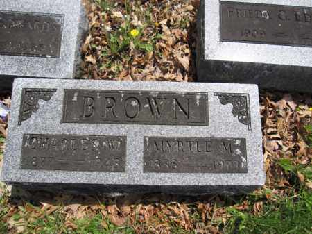 BROWN, MYRTLE M. - Union County, Ohio | MYRTLE M. BROWN - Ohio Gravestone Photos