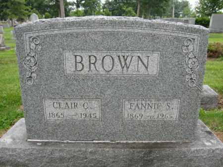 BROWN, FANNIE S. - Union County, Ohio | FANNIE S. BROWN - Ohio Gravestone Photos