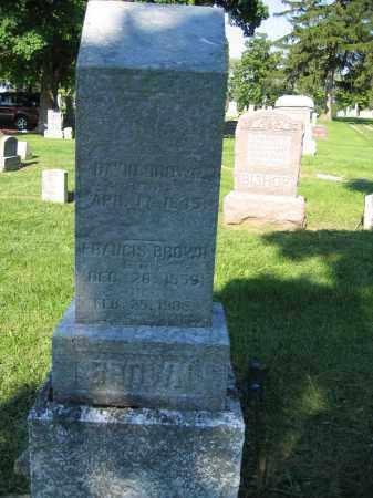 BROWN, FRANCIS - Union County, Ohio | FRANCIS BROWN - Ohio Gravestone Photos