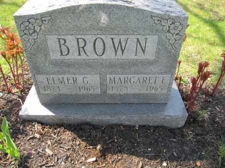 BROWN, ELMER GEORGE - Union County, Ohio | ELMER GEORGE BROWN - Ohio Gravestone Photos