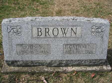 BROWN, F. CATHARINE - Union County, Ohio | F. CATHARINE BROWN - Ohio Gravestone Photos