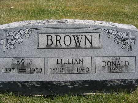 BROWN, LILLIAN - Union County, Ohio | LILLIAN BROWN - Ohio Gravestone Photos
