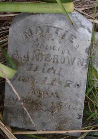 BROWN, MATTIE - Union County, Ohio | MATTIE BROWN - Ohio Gravestone Photos