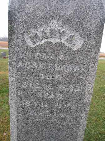 BROWN, MARY A. - Union County, Ohio | MARY A. BROWN - Ohio Gravestone Photos