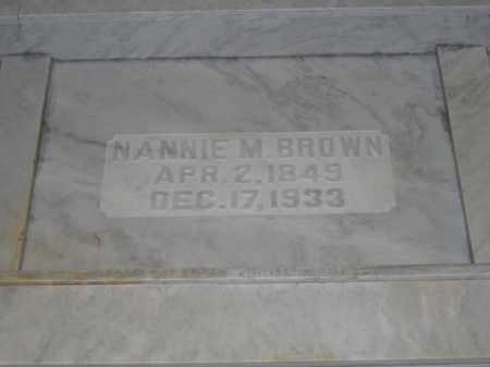 BROWN, NANNIE M. - Union County, Ohio | NANNIE M. BROWN - Ohio Gravestone Photos