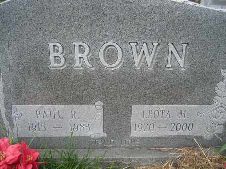 BROWN, PAUL R - Union County, Ohio | PAUL R BROWN - Ohio Gravestone Photos