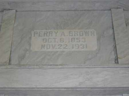 BROWN, PERRY A. - Union County, Ohio | PERRY A. BROWN - Ohio Gravestone Photos