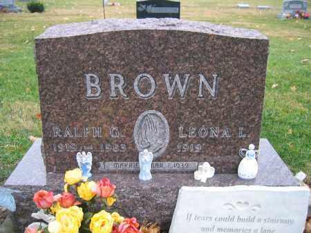 BROWN, LEONA L. - Union County, Ohio   LEONA L. BROWN - Ohio Gravestone Photos