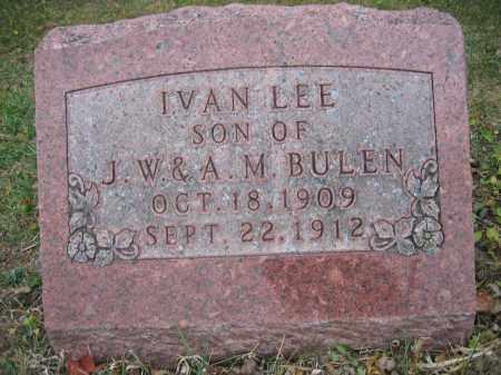 BULEN, IVAN LEE - Union County, Ohio   IVAN LEE BULEN - Ohio Gravestone Photos