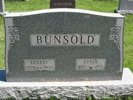 BUNSOLD, ERNEST - Union County, Ohio | ERNEST BUNSOLD - Ohio Gravestone Photos