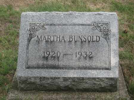 BUNSOLD, MARTHA - Union County, Ohio | MARTHA BUNSOLD - Ohio Gravestone Photos