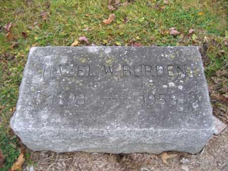 BURDEN, HAZEL W. - Union County, Ohio | HAZEL W. BURDEN - Ohio Gravestone Photos