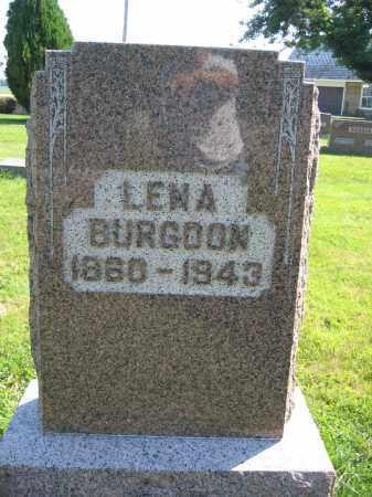 BURGOON, LENA - Union County, Ohio | LENA BURGOON - Ohio Gravestone Photos